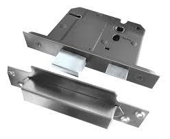 Bathroom Door Handles Lorenzo Polished Chrome Satin Chrome Lever Door Handle Pack Jv861pcsc