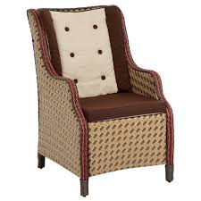 bombay outdoors princeville paprika patio wing chair with paprika