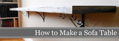 learn how to build an awesome sofa table storypiece