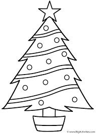christmas tree coloring christmas
