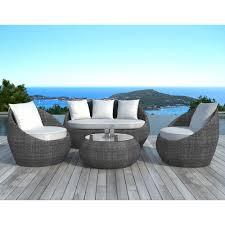 canapé de jardin design salon de jardin en résine tressée 5 places http delamaison fr