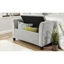 Ebay Bedroom Furniture by Verona Chenille Diamante Window Seat Ottoman Storage Box Blanket