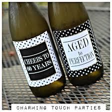 80th Birthday Party Decorations Ladies Birthday Wine Labels 40th Birthday 50th Birthday 60th