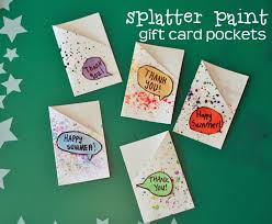 card pockets splatter paint gift card pockets make and takes