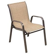 patio chair outdoor stacking patio chair in brown with
