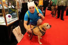 Finn Jake Halloween Costume York Comic 2016 Harley Quinns Dogs Signs