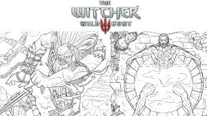 the streets with blood in the witcher coloring book