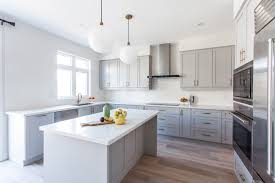 Grey Shaker Kitchen Cabinets by Sinks