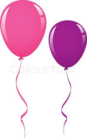 balloon ribbon vector pink and purple balloon ribbon stock vector colourbox