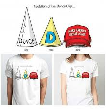 How To Make A Dunce Cap Out Of Paper - evolution of the dunce cap make america great again dunce 1956