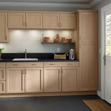 home depot kitchen sink vanity easthaven shaker assembled 36x34 5x24 in frameless sink base cabinet with false drawer front in unfinished beech