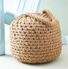 Beanbag Ottoman Clippers Bay Coastal Beach Raw Jute Buoy Pouf Ottoman Kathy Kuo Home