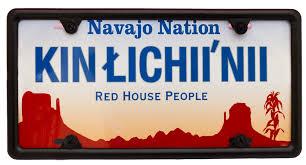 kin łichii u0027nii u2013 red house people license plate navajostore com