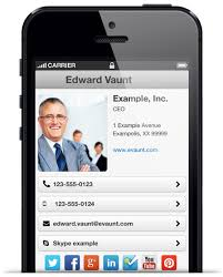 create business card free create a free mobile optimised digital business card with evaunt