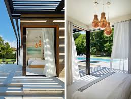 icrave mixes cedar and steel to create this modern hamptons pool