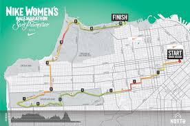 New York City Marathon Map by Evann Clingan Nike Women U0027s Half Marathon Sf Course Map