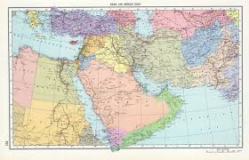 Middle Eastern Map Aden Maps