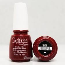 gelaze china glaze led uv gel nail color polish 0 5 oz ruby