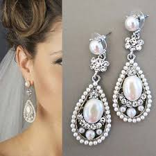 wedding earrings drop bridal drop earrings bridal earrings with pearl wedding