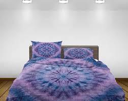 Tie Dye Comforter Set Tie Dye Bedding Etsy