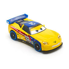 jeff corvette disney pixar cars carnival jeff gorvette die cast