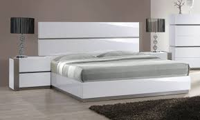 Headboards And Nightstands White And Grey Gloss Long Headboard Bed With Optional Nightstands