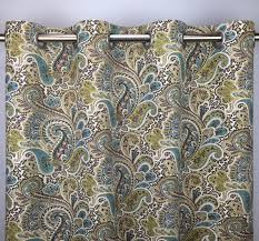 Paisley Curtains Paisley Curtains Free Shipping Green Blue Brown Floral Rod