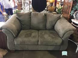 Ashley Furniture Microfiber Loveseat Comfortable Sage Green Microfiber Loveseat By Ashley Furniture