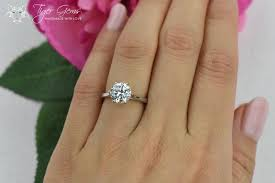 2ct engagement rings 2 ct classic solitaire engagement ring low profile ring made