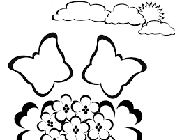 free butterfly coloring pages flying butterfly