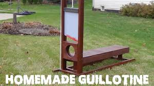 how to make a guillotine creepy halloween lawn decoration youtube