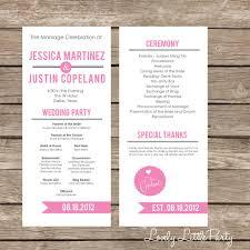 diy wedding programs simple ultra modern wedding program diy printable lovely wedding