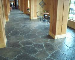 Stain Old Concrete Patio by Concrete Floors For Home Interiors Stamped Interior Flooring