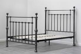 york metal bed frame black nickel finish vintage victorian