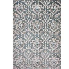 Black And Cream Rug Home Dynamix Oxford Blue Cream 7 Ft 10 In X 10 Ft 2 In Indoor