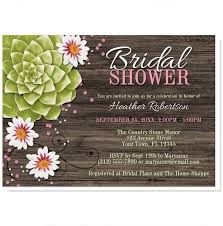 rustic bridal shower invitations rustic succulent floral bridal shower invitations online at