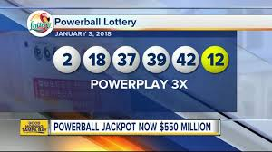 Powerball Map Powerball Lottery Drawing For January 3 2018 No Winning Tickets