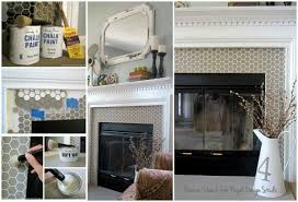 Paint Tile Fireplace by Stencil Fireplace Surround Paint Pattern