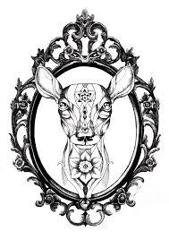 vintage frame tattoo design round floral frame in vintage style