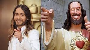 Jared Leto Meme - jared leto bears uncanny resemblance to jesus christ at oscars 2014