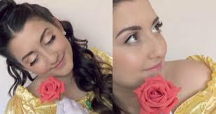 disney princess belle makeup u0026 hair tutorial youtube