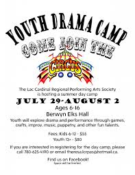 summer camp grimshaw youth drama camp circus theme u2013 lac