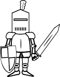 knight sword coloring page wecoloringpage