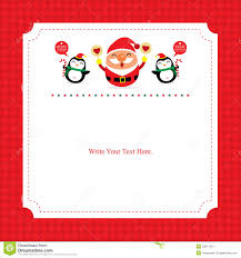 card template with santa claus stock vector image