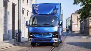 truck tesla e fuso vision one daimler electric truck beats tesla to the