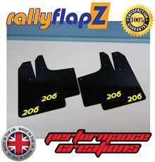 peugeot 206 new 206 gti performance mud flaps x 4 black