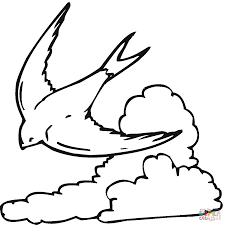 flying swallow coloring page free printable coloring pages