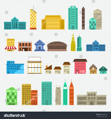 House Flat Design Building Icon Set Concept Use City Stock Vector 276620933