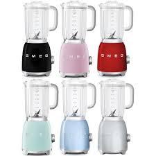 Smeg Appliances Smeg Retro Appliances Blender Black Blue Mint