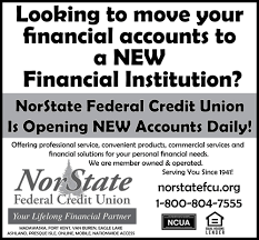 Sle Of Credit Card Statement by Norstate Federal Credit Union